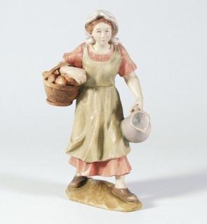 Krippenfigur Hirtin mit Krug Mesner-Krippe 22 cm Krippen Figur Weihnachten