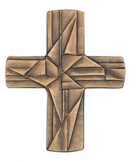 Wandkreuz Ornamentkreuz Bronze Erstkommunion Kreuz 9, 5 x 8 cm Handarbeit NEU