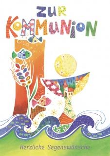Kommunionkarte Zur Kommunion Segenswünsche (6 St) Glückwunschkarte Erstkommunion