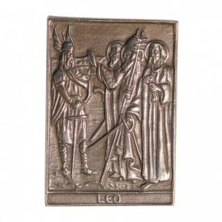 Namenstag Leo 8 x 6 cm Bronzeplakette