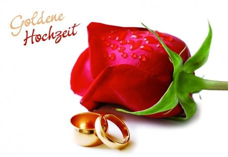 Hochzeitskarte Goldene Hochzeit (6 Stck) Glückwunschkarte Grußkarte Kuvert