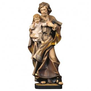 Heiliger Josef mit Kind Holz geschnitzt handbemalt Südtiroler Schnitzkunst