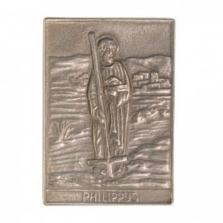 Namenstag Philippus 8 x 6 cm Bronzeplakette Bronzerelief Wandbild Schutzpatron
