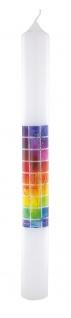 Kommunionkerze Kelch Ähren Trauben 40 cm Siebdruckmotiv Kerze zur Kommunion