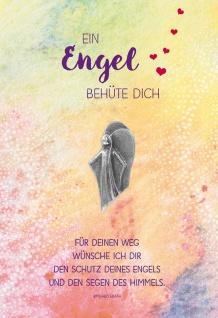 Grußkarte Geburtstag 5 St Kuvert Engel-Handschmeichler Naturpapier Irmgard Erath