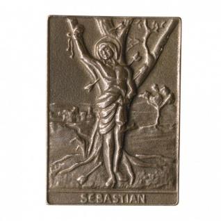 Namenstag Sebastian 8 x 6 cm Bronzeplakette Bronzerelief Wandbild Schutzpatron