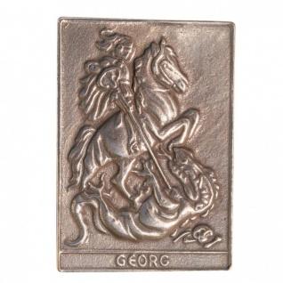 Namenstag Georg 8 x 6 cm Bronzeplakette Namenstag Geschenk