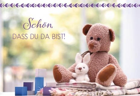 Glückwunschkarte Geburt Kuscheltiere 6 St Kuvert Bibelwort Baby Willkommen
