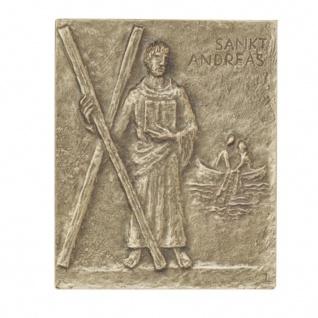 Namenstag Andreas Andrea 13 x 10 cm Bronzerelief Wandbild Schutzpatron