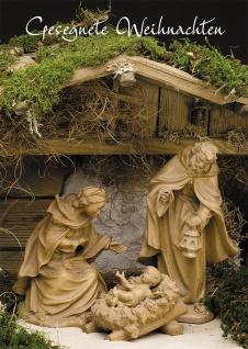 Glückwunschkarte Gesegnete Weihnachten (6 St) Krippe Grußkarte Bibelwort Kuvert