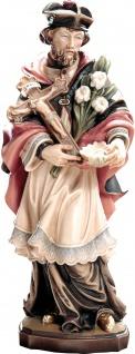 Heiliger Franz Xaver Holzfigur geschnitzt Südtirol Schutzpatron von Indien