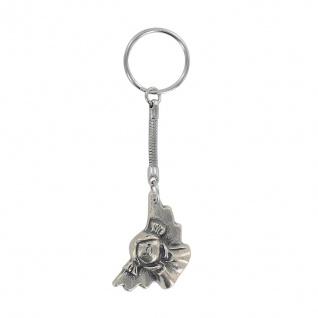 Schlüsselanhänger Lustiger Engel Neusilber 2, 5 x 3, 5 cm Schutzengel Anhänger
