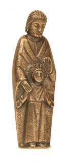 Handschmeichler Heiliger Josef mit Jesuskind 8 cm Bronze