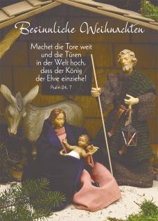 Postkarte Besinnliche Weihnachten (10 St) Heilige Familie Grußkarte