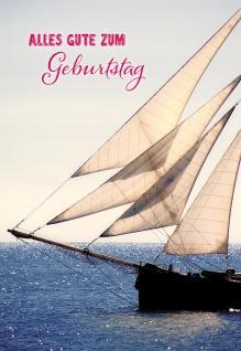 Glückwunschkarte Geburtstag Geldgeschenk-Karte 6 St Kuvert Heidi Rose Segelboot