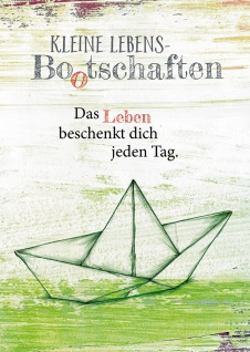 Postkarte Kleine Lebens Bootschaften (10 St) Papierboot Nicole Weidner