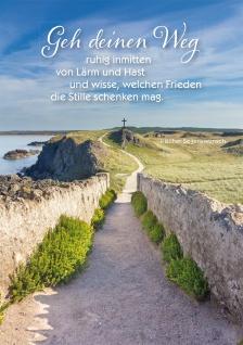 Postkarte Weg Irischer Segenswunsch 10 St Adressfeld Küsten-Pfad Frieden Stille