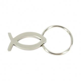 Schlüsselanhänger Fisch mit Schlüsselring Metall 4, 5 cm Anhänger Ichthys