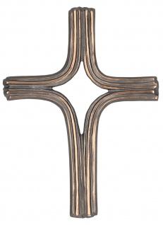 Kruzifix Wandkreuz Kreuz schlicht Bronze 15 cm Schmuckkreuz
