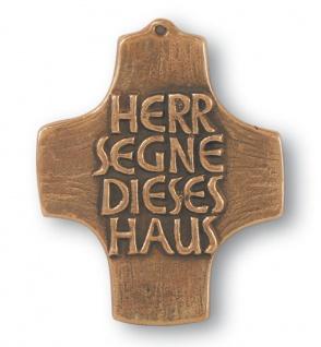 Haussegen Herr segne dieses Haus 10 cm Bronze Haussegen Spruch