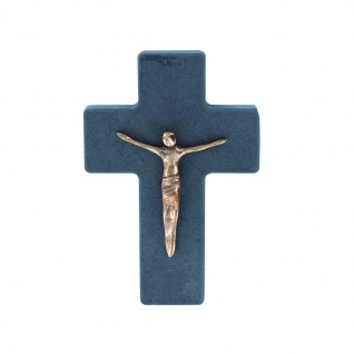Wandkreuz Schiefer Korpus Corpus Jesus Bronze Kreuz 11 cm Kruzifix Christlich