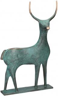 Hirsch Raimund Schmelter Bronzefigur 29 cm Vergoldung Bronze Statue Skulptur