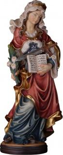 Heilige Regina mit Buch und Schwert Holzfigur geschnitzt Südtirol Schutzpatronin