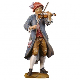 Geigenspieler Holzfigur geschnitzt Südtirol Profane Figur