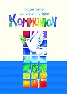Kommunionkarte Gottes Segen zur ersten Kommunion (6 Stck) Bibelwort Grußkarte