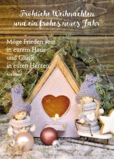 Postkarte Möge Frieden sein in eurem Haus Neujahrs-Wunsch Friede (10 Stück)