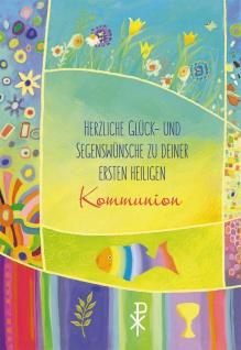 Geldgeschenk Karte Kommunion (6 Stck) Glückwunschkarte Erstkommunion Kuvert