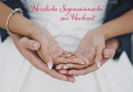 Glückwunschkarte Hochzeit 6 St Kuvert Bibelwort Korinther Lebensweg Treue Liebe