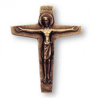 Wandkreuz Bronzekreuz Corpus Bronze Kreuz 14cm Korpus Kruzifix INRI