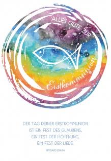 Glückwunschkarte Alles Gute zur Erstkommunion Irmgard Erath Kuvert 6 Stk