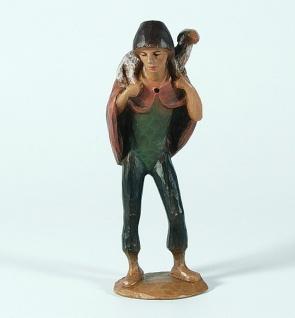 Hirt mit Schulterschaf geschnitzt Dorf-Krippe 17 cm Krippen Figur Weihnachten