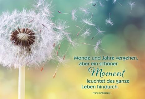 Grußkarte Moment Franz Grillparzer 6 St Kuvert Pusteblume Augenblick Stärkung