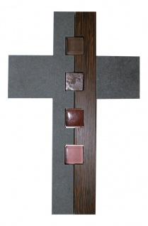 Wandkreuz Schiefer Holz Glas Naturstein 27 cm Kreuz Kruzifix Christlich