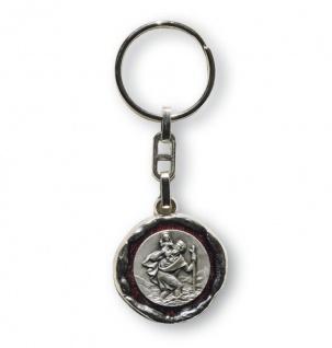 Schlüsselanhänger Christophorus 3 cm rot Christopherus Anhänger