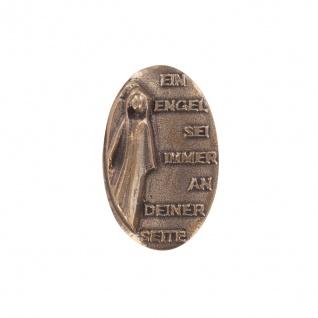 Skulptur Ein Engel sei immer an deiner Seite Bronze 7 cm Engel Figur