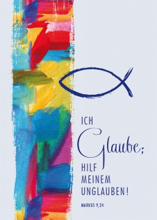 Postkarte Jahreslosung 2020 Glaube 10 St Adressfeld Bibel Luther Beistand Gott