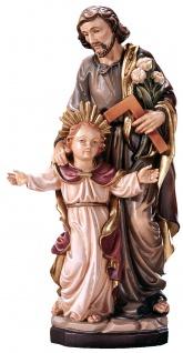 Heiliger Josef mit Jesuknabe Heiligenfigur Holz geschnitzt Schutzpatron