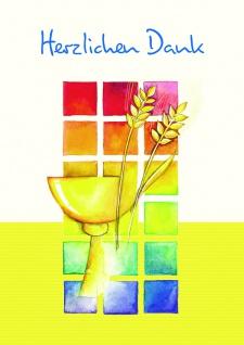 Danksagungskarten Kommunion Herzlichen Dank (18 Stck) Erstkommunion Kuvert