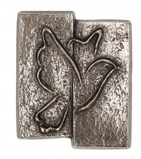 Kreuz-Plakette Taube aus Neusilber 5, 5 cm zum Aufhängen und Hinlegen