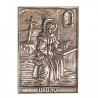 Namenstag Bruno 8 x 6 cm Geschenk Bronzerelief Wandbild Schutzpatron