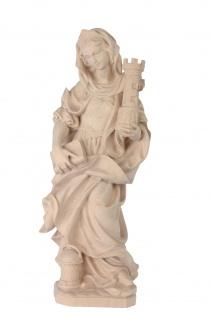 Heilige Barbara Holzfigur geschnitzt Südtirol Schutzpatronin Märtyrerin - Vorschau 3