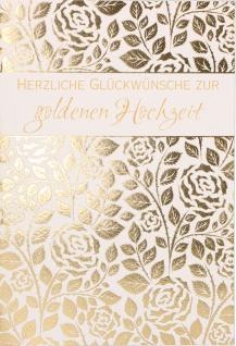 Glückwunschkarte Goldene Hochzeit 6 St Kuvert Naturpapier Liebe Ehe