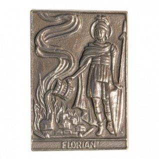 Namenstag Florian 8 x 6 cm Bronzeplakette
