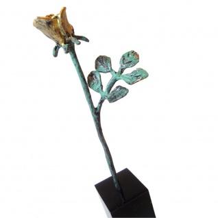 Skulptur Dank für ihren Einsatz bronziert vergoldet 13 cm Mitarbeitergeschenke - Vorschau 1