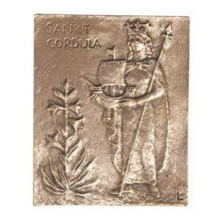 Namenstag Cordula Bronze 13 x 10 cm Bronzerelief Wandbild Schutzpatron