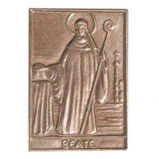 Namenstag Beate 8 x 6 cm Bronzeplakette Bronzerelief Wandbild Schutzpatron